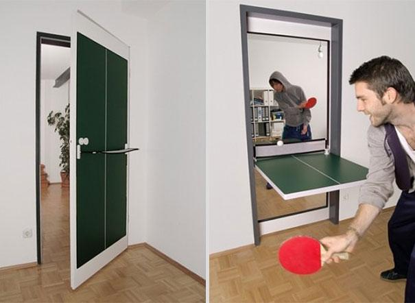 interior door ping pong table